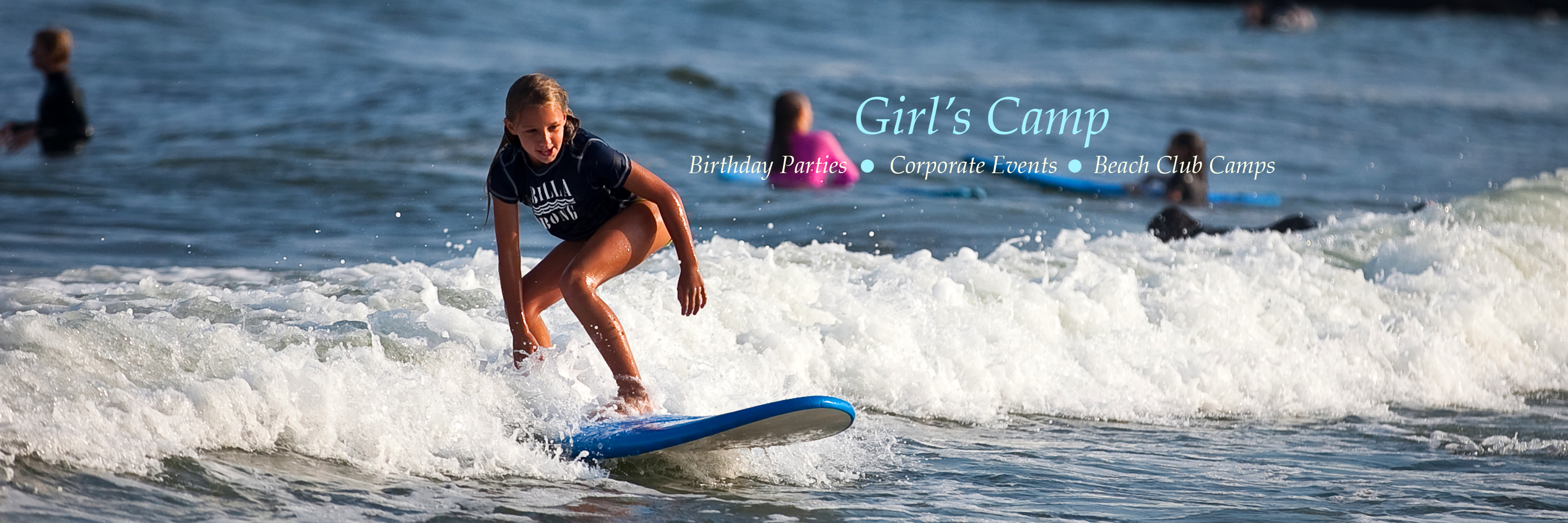 New Jersey all girls Surf Camp