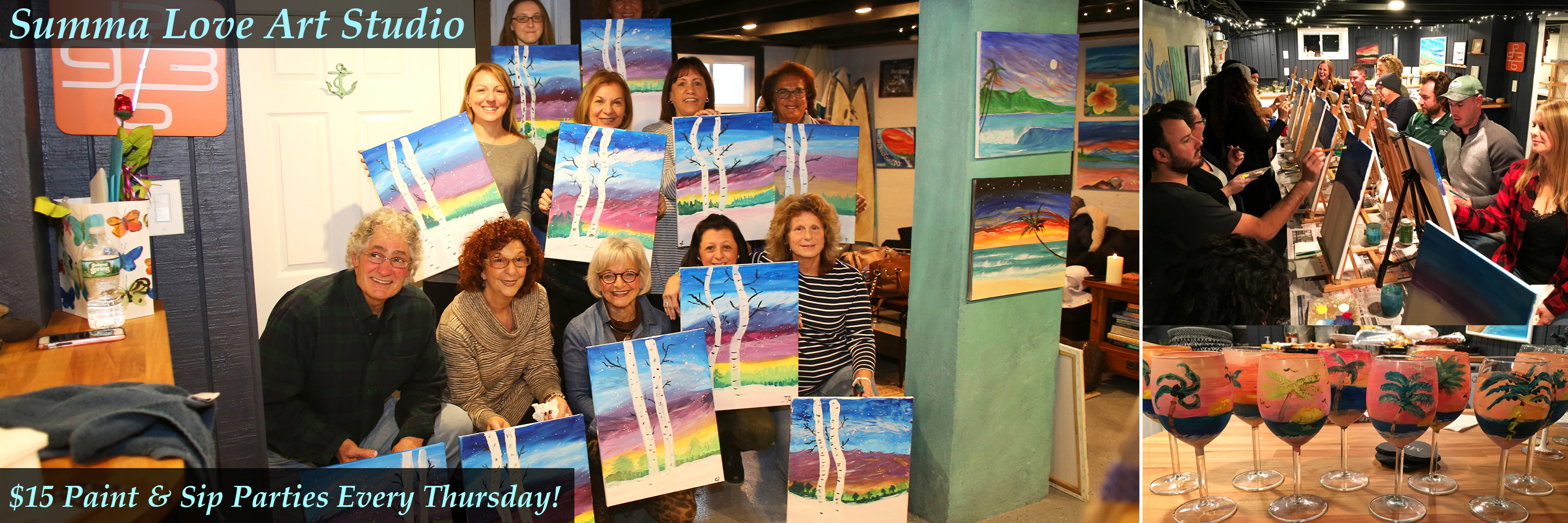 Monmouth County Sip and Paint Parties, Art Studio in Long Branch