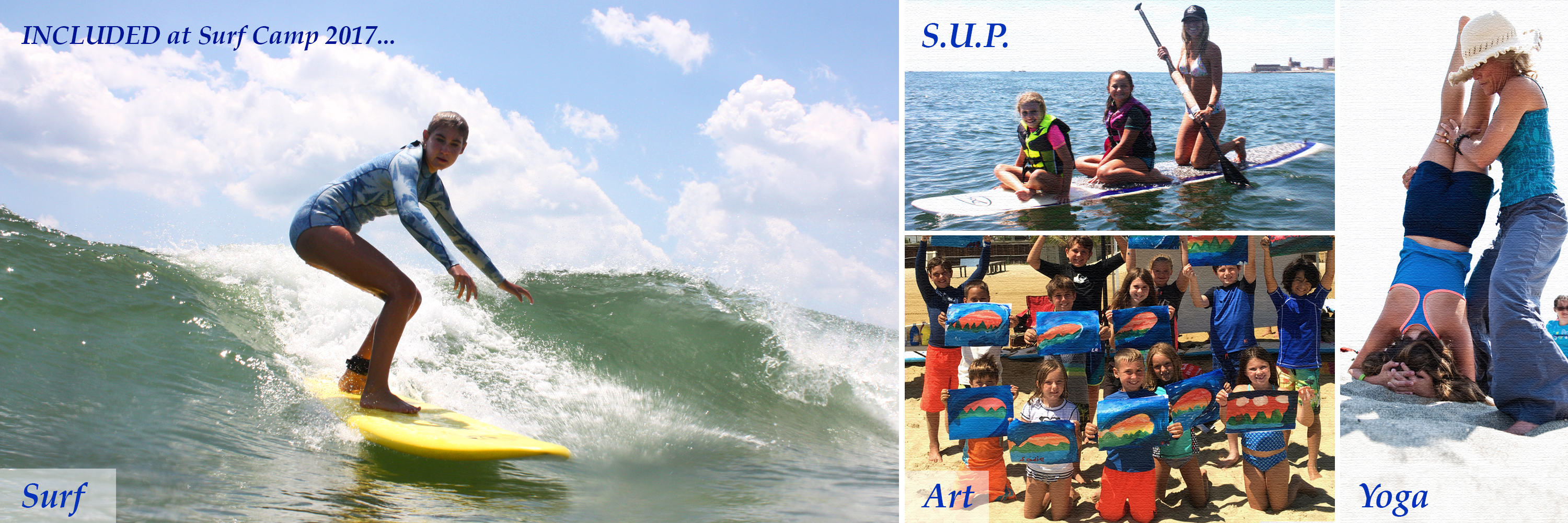 Surf camp NJ, Surfing and Art, Stand Up Paddle, Yoga