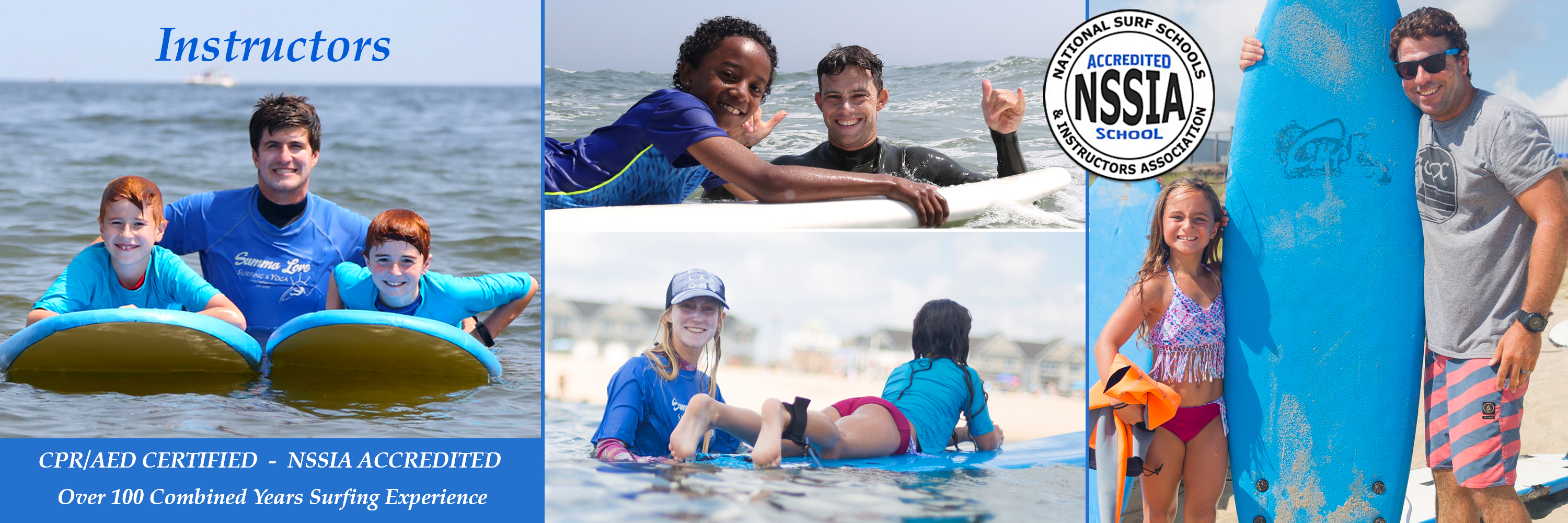 Summa Love Instructors, Surf Camp, NJ Surf Lessons