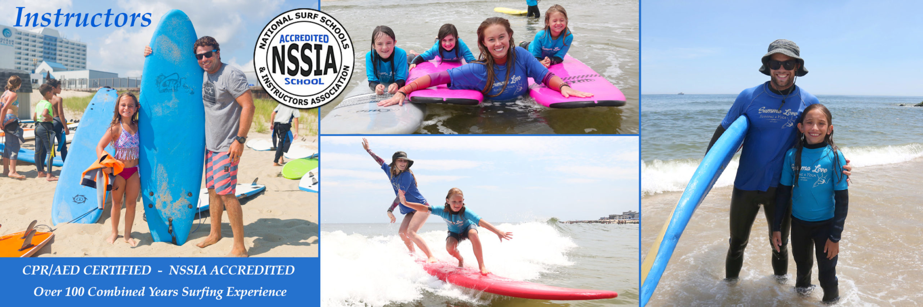 Surfing Instructors, Surf Camp Staff, NJ Surf Instructor, NSSIA Accredited, CPR Certified