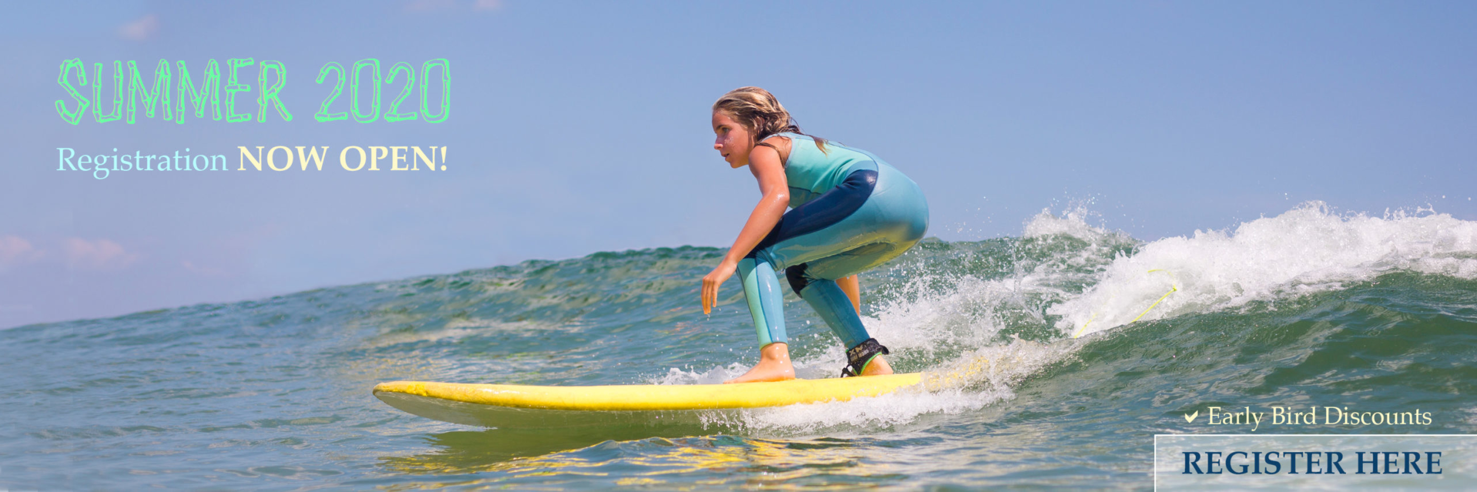 Register for surf camp, Long Branch, Deal, NJ, surf school, yoga, pizza party, birthday parties